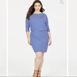 Blue JustFab Dolman Wrap Dress Size 1X Brand NEW!
